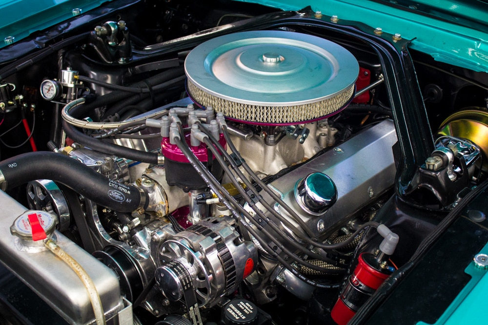 3 1965 Ford Mustang Engine View