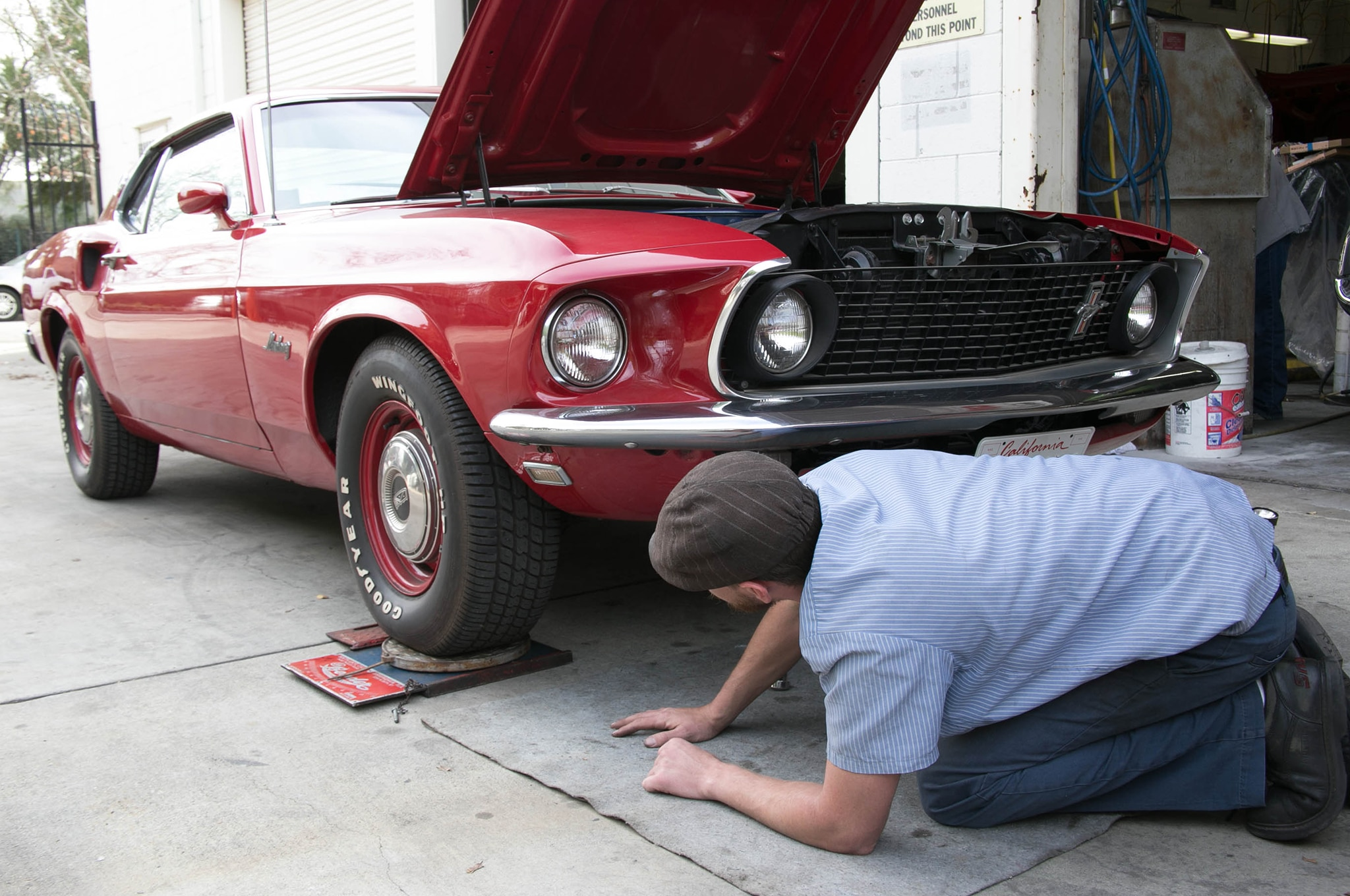 1969 Ford Mustang Front Wheel