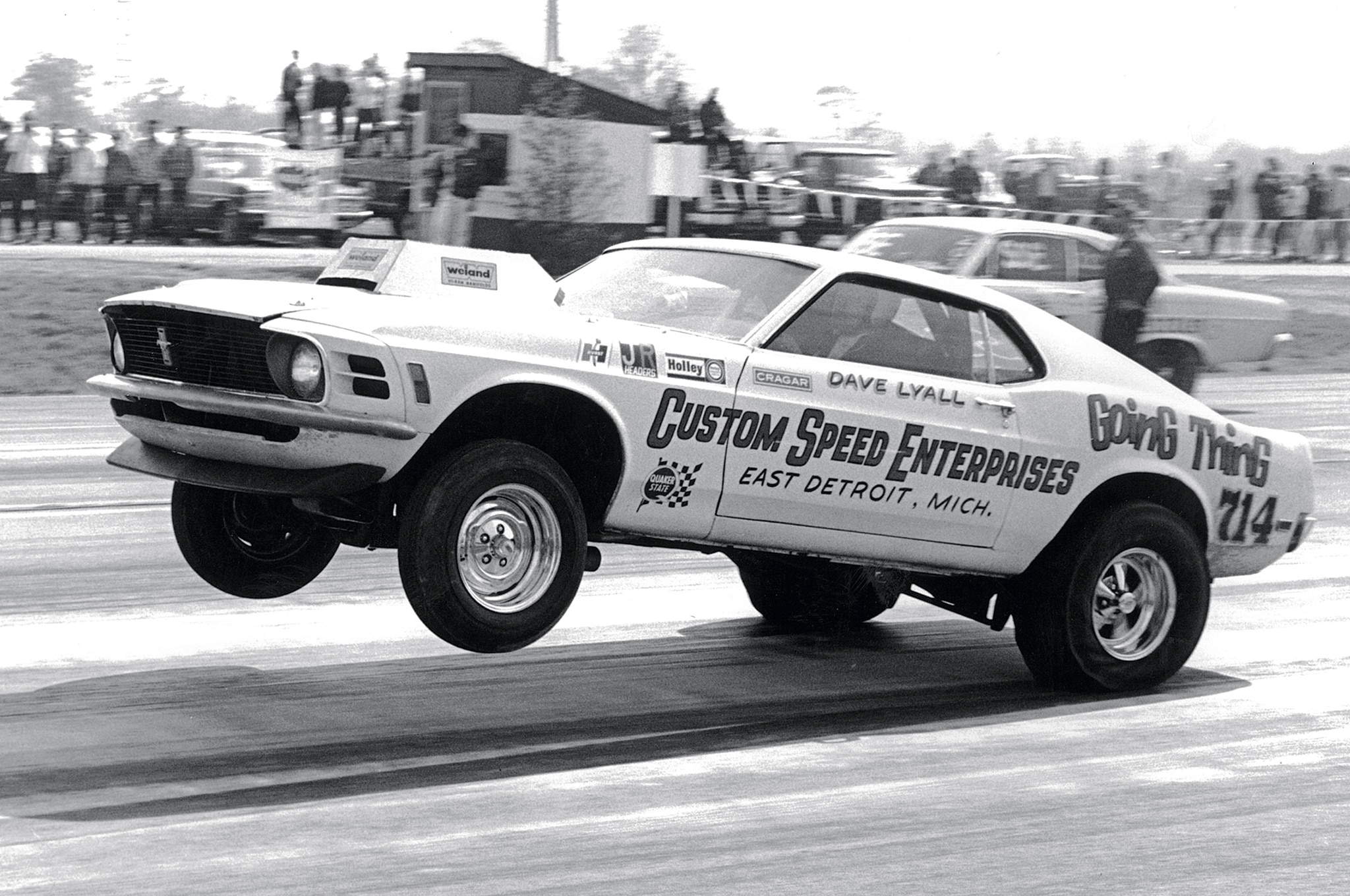 1969 Ford Mustang Drag Racing