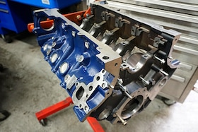Prepping Ford Racing's 5.3-liter shortblock for supercharging