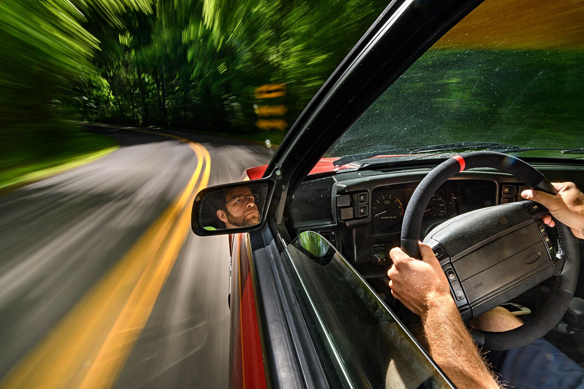 001 Mustang Steeda Suspension Driving Corner