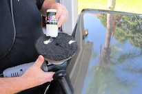 04 Chadwicks Triple Play Paint Correction System Buffing Pad 1 With Polish 1 Being Applied