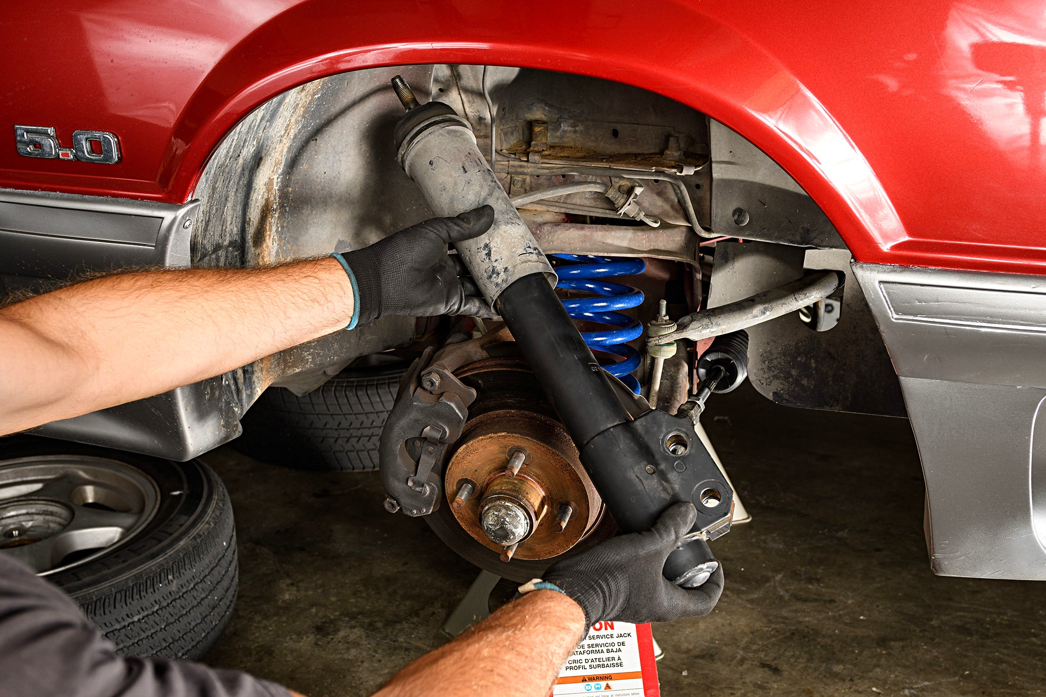 005 Mustang Front Strut Removal