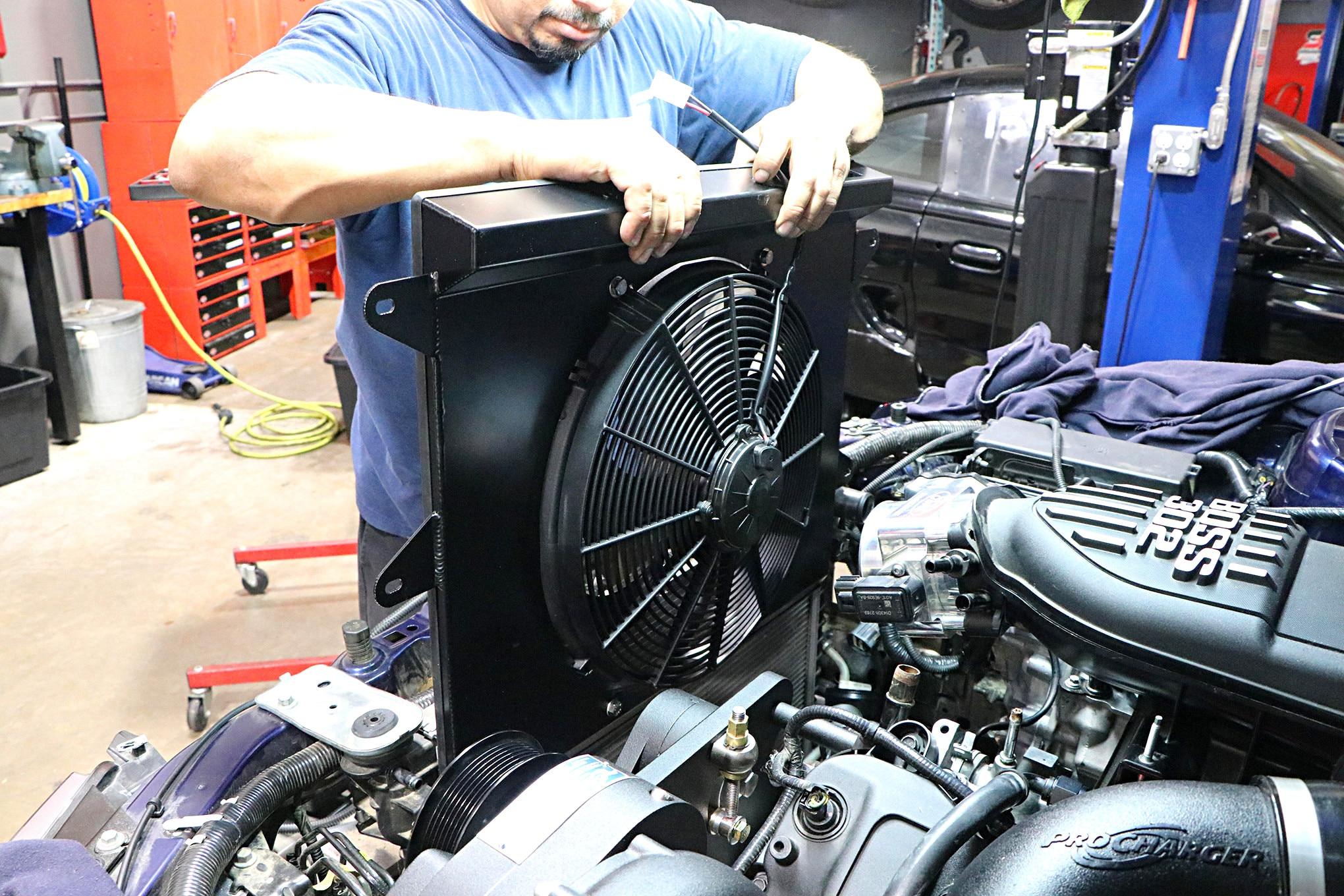 018 Mustang Procharger Radiator Cooling Fan