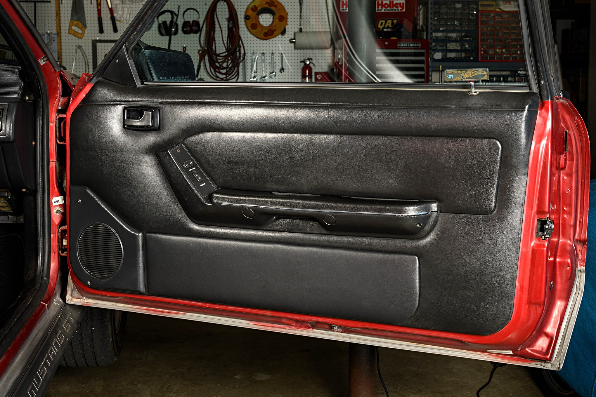 029 Mustang Door Panel Installation Finished Black