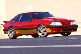 Travis Smith's show winner 1989 Mustang Saleen 89-374