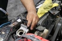 003 Mustang Upper Radiator Bracket Removal