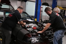 Week To Wicked, Day 4: Mocking up a BeCool Radiator and Derale Fans and Shroud in our 1990 Fox-Body Mustang